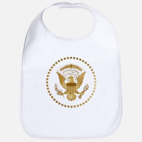 Gold Presidential Seal Bib