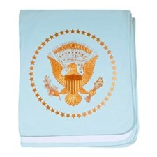 Gold Presidential Seal baby blanket