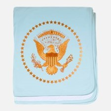 Gold Presidential Seal baby blanket