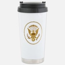 Gold Presidential Seal Stainless Steel Travel Mug