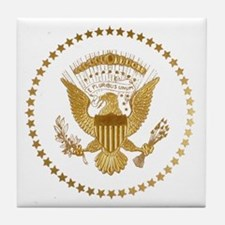 Gold Presidential Seal Tile Coaster