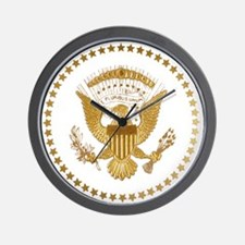 Gold Presidential Seal Wall Clock
