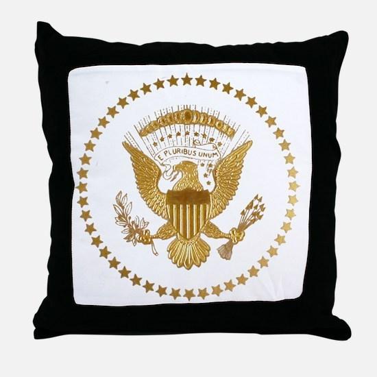 Gold Presidential Seal Throw Pillow