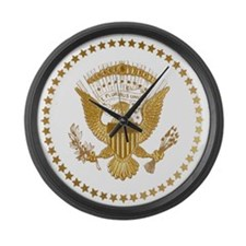 Gold Presidential Seal Large Wall Clock