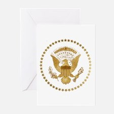 Gold Presidential Seal Greeting Cards (Pk of 10)