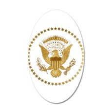 Gold Presidential Seal 35x21 Oval Wall Decal