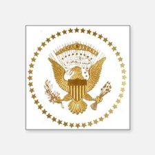 "Gold Presidential Seal Square Sticker 3"" x 3"""