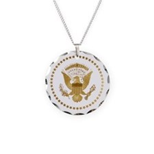Gold Presidential Seal Necklace