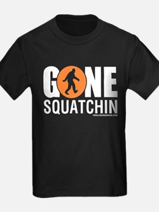 Gone Squatchin White/Red Logo Womens Dark Shir T-S