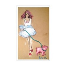 Walking Piggie Sticker (rectangle)