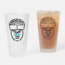 XRAY Skull Typography Drinking Glass