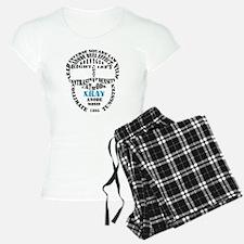 XRAY Skull Typography Pajamas