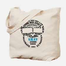 XRAY Skull Typography Tote Bag