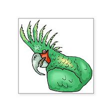 Green Parrot Sticker
