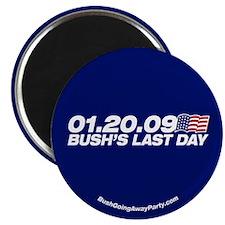 Funny Bush's last day Magnet
