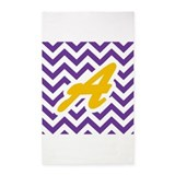 Purple and gold chevron 3x5 Rugs