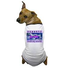 Purple Ferret Dog T-Shirt