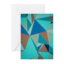 Abstract Modern Geometric Pattern Pastel Blue Gree