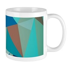 Abstract Modern Geometric Pattern Pastel Blue Mugs