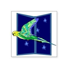 Parakeet Flying Sticker