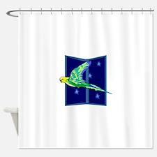 Parakeet Flying Shower Curtain