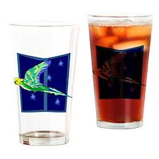 Parakeet Flying Drinking Glass