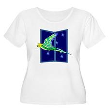 Parakeet Flying Plus Size T-Shirt