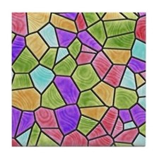 Colorful Stained Glass Tile Coaster