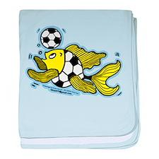 Football Fish Soccer baby blanket