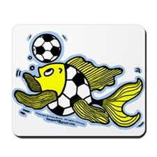 Football Fish Soccer Mousepad