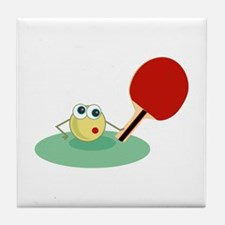 Table Tennis Tile Coaster