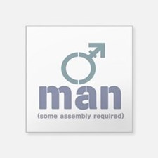 "T-Man Assembly Square Sticker 3"" x 3"""