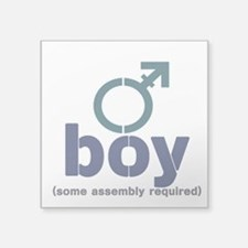 "T-Boy Assembly Square Sticker 3"" x 3"""