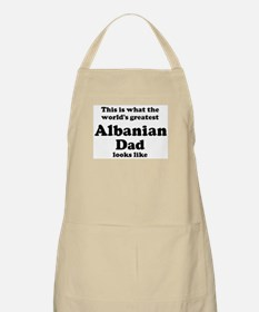 Albanian dad looks like BBQ Apron
