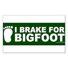 I Brake For Bigfoot (Green) Decal