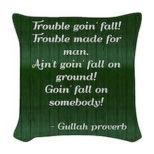 Gullah Proverb Woven Throw Pillow