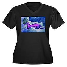 Ferret Blues Women's Plus Size V-Neck Dark T-Shirt