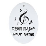 Drum major Oval Ornaments