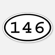 146 Oval Oval Decal