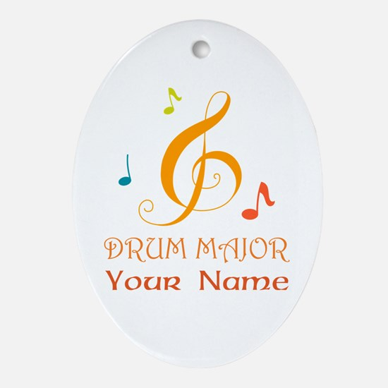 Personalized Drum Major Band Ornament (Oval)