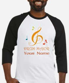 Personalized Drum Major Band Baseball Jersey