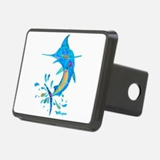 marlin saltwater fish art Hitch Cover
