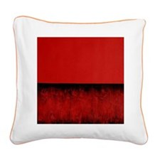 RED HOT ROTHKO Square Canvas Pillow