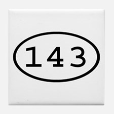 143 Oval Tile Coaster