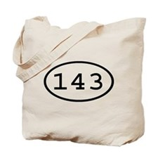 143 Oval Tote Bag