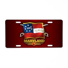 Maryland DV Aluminum License Plate