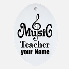 Music Teacher personalized Ornament (Oval)