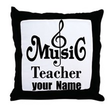 Music Teacher personalized Throw Pillow