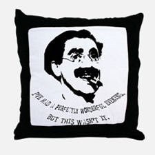 Cute Marx brothers Throw Pillow