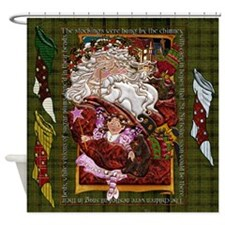 Harvest Moons Santa Claus Shower Curtain